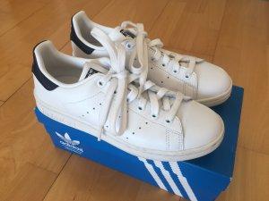 adidas stan smith Sneakers met veters wit-donkerblauw Leer