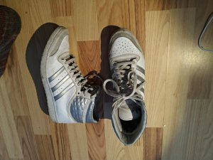 Adidas original hightop silber weiß