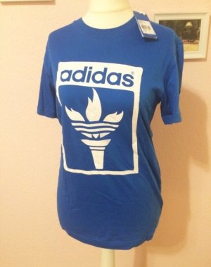 Adidas Originals T-shirt blu-bianco