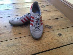 Adidas Originals Basket à lacet gris clair-rouge