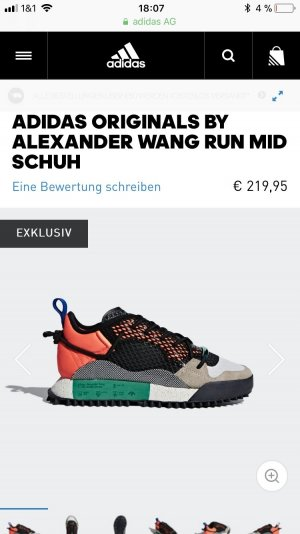 Adidas Originals by Alexander Wang RUN MID Schuh