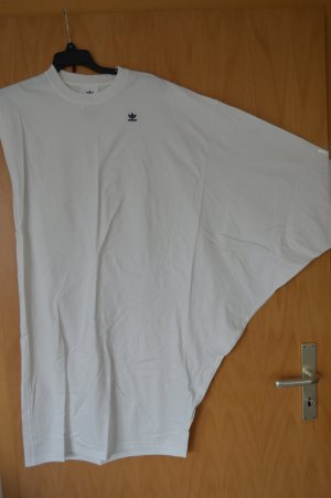 Adidas Originals T-shirt jurk wit Katoen