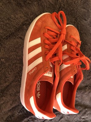 Adidas Originals Lace-Up Sneaker bright red leather