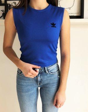 Adidas Originals Top corto blu neon
