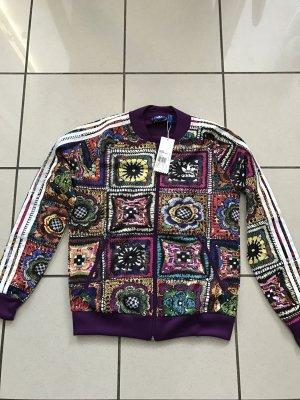 Adidas Originals Firebird Jacke,neu,Crochita,Gr 36,lila,Blumenprint