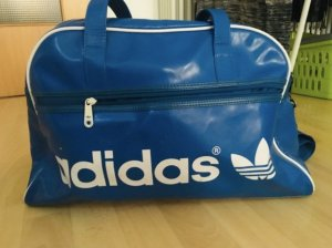 Adidas Originals Borsa da weekend blu neon-bianco Acrilico