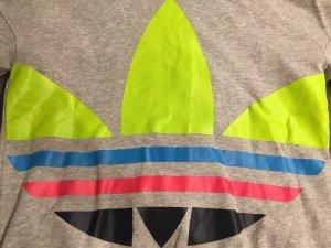 Adidas Originals Hooded Sweater grey cotton