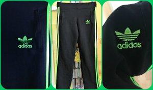 Adidas Originals Pantalone da ginnastica nero-verde neon Poliestere