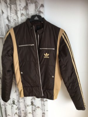 Adidas Originals Giacca da motociclista marrone scuro-color cammello