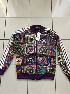 Adidas Originals Jacke Firebird Crochita,lila, blunenprint, Gr 40, neu