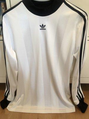 Adidas Originals Lang shirt wit-zwart
