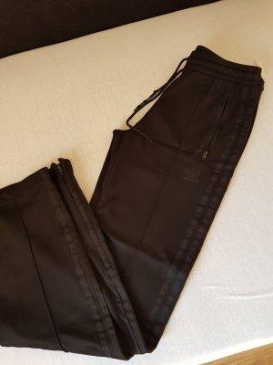 Adidas Originals Pantalone da ginnastica nero Tessuto misto