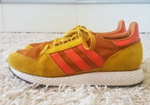 Adidas Originals Lace-Up Sneaker lime yellow-salmon