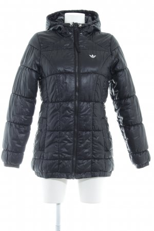 Adidas Originals Quilted Jacket black quilting pattern casual look