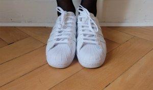 adidas originals superstar sneaker schnürschuh turnschuh weiß neu 39