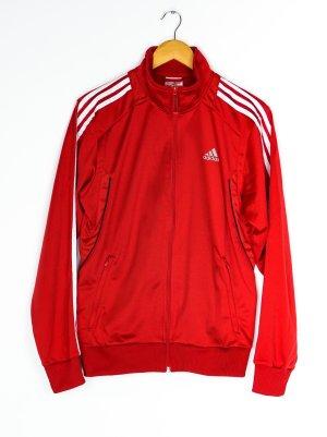 Adidas Originals Veste sweat rouge brique-blanc