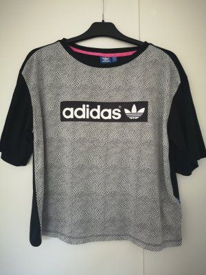Adidas T-Shirt white-black