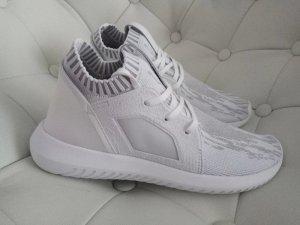 Adidas Basket à lacet blanc-gris clair tissu mixte