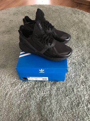Adidas Originals Tubular Runner W CBlack Echtleder Kroko Sneakers Blogger Trend