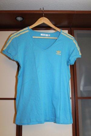 Adidas Originals Türkis Blau Gold Shirt T-shirt top