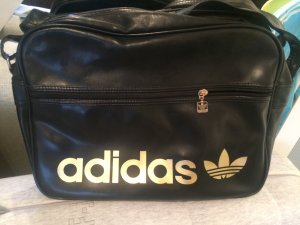 Adidas Originals Crossbody bag black-gold-colored polyurethane
