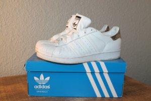 Adidas Originals Sneakers met veters wit-lichtbruin Leer