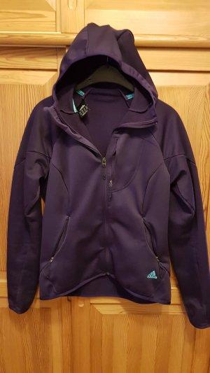 Adidas Chaqueta softshell violeta amarronado
