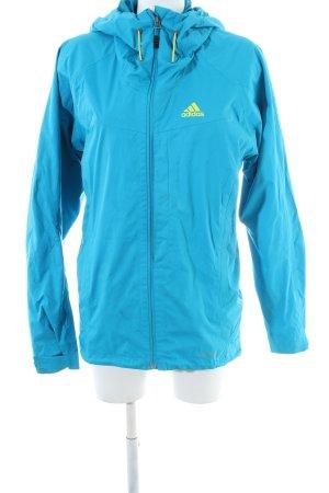 Adidas Outdoor jack blauw-sleutelbloem prints met een thema atletische stijl