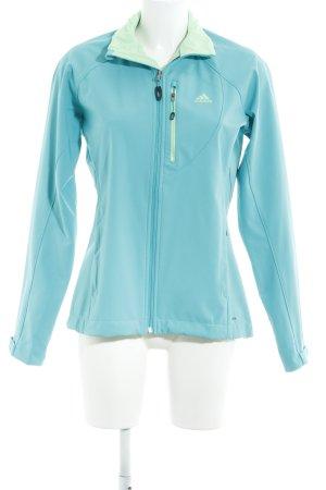 Adidas Chaqueta para exteriores azul claro-menta estilo deportivo