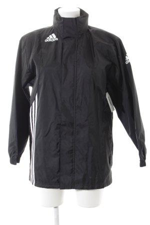 Adidas Outdoorjacke schwarz-weiß Streifenmuster sportlicher Stil