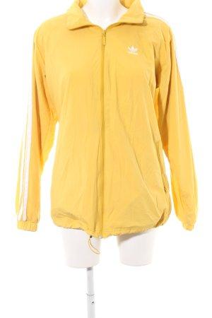Adidas Oversized Jacket gold orange-white athletic style