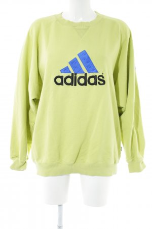 Adidas Oversized Pullover grün Schriftzug gestickt sportlicher Stil