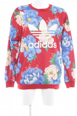 Adidas Oversized Pullover Blumenmuster Casual-Look