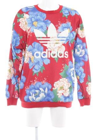 Adidas Maglione oversize motivo floreale stile casual