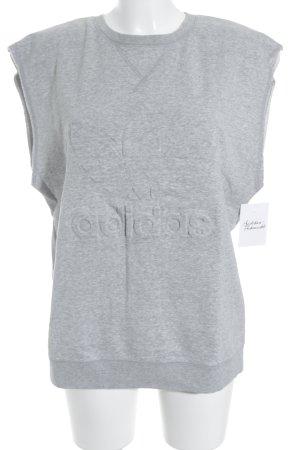 Adidas Oversized Shirt hellgrau-schwarz sportlicher Stil