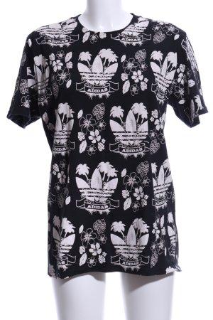 Adidas Camisa holgada negro-blanco estampado repetido sobre toda la superficie