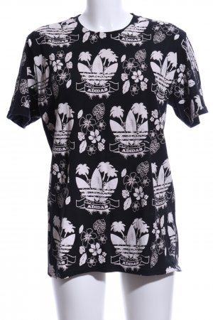 Adidas Oversized shirt zwart-wit volledige print casual uitstraling