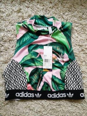 Adidas Top corto multicolore