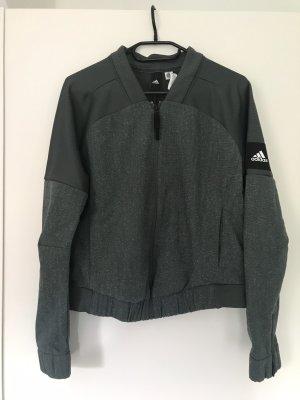 Adidas Sportjack khaki-groen-grijs
