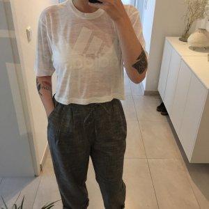 Adidas Camisa recortada blanco