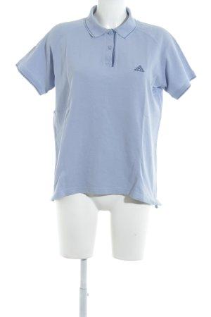 Adidas Polo azzurro-blu acciaio stile universitario