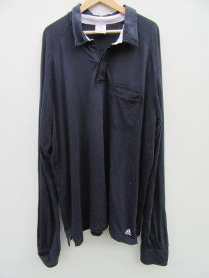 Adidas Polohemd blau langarm Vintage Gr. XXL