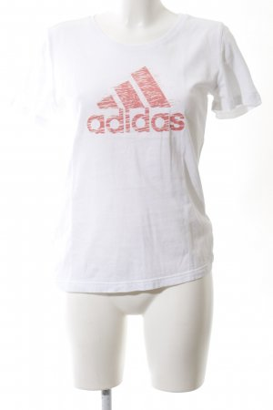 Adidas Print Shirt white-red casual look