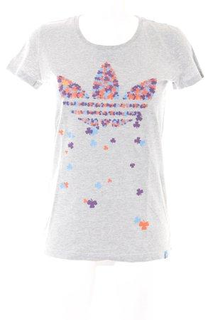 Adidas Print-Shirt Blumenmuster Casual-Look