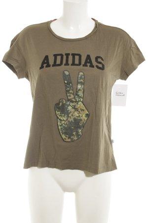 Adidas Print-Shirt Camouflagemuster Casual-Look