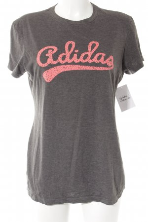 Adidas Print Shirt grey-pink printed lettering athletic style