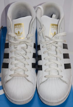adidas Pro Model S85956 Sneaker Gr. 39 1/3 weiß schwarz UK 6 OVP Superstar high