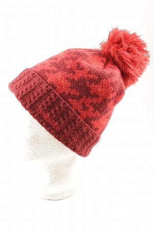 Adidas Bobble Hat dark red-red mixed pattern classic style