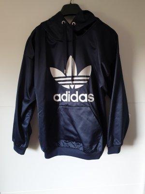 Adidas Camicia con cappuccio blu scuro
