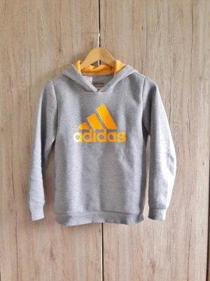 Adidas Pulli Hoodie grau orange Gr. XS/S